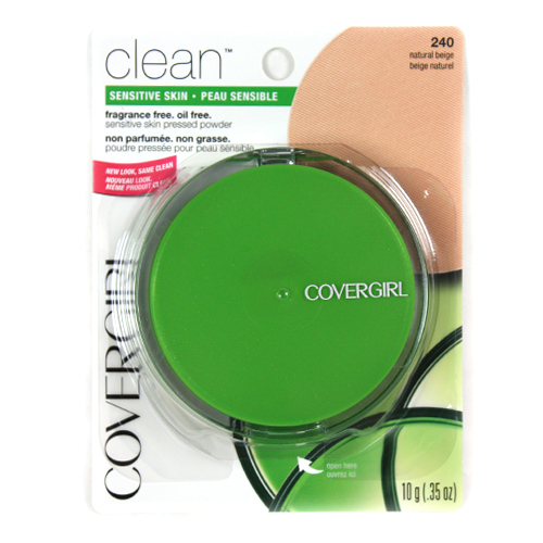 Clean Covergirl Sensitive Skin Pressed Powder Natural Beige 240